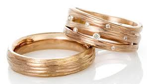 red gold rings images Red gold wedding ring set ayesha studio jewelry jpg