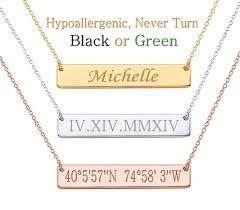 personalized name bar necklace gold bar necklace personalized bar necklace name bar