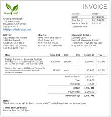 example of a invoice examples of invoices for studio time joy studio design gallery