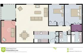 free architectural plans floor plan of two bed condo with den furniture royalty free stock