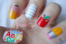 cute back to nail designs