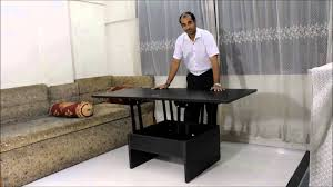 Folding Dining Table India Smart Space Saving Coffee Converts To Dining Table Youtube