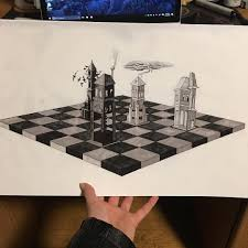 chess board project sketching for design class seravilox