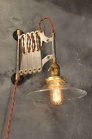 Vintage Lighting Fixture Industrial Lighting Vintage Steel Scissor L Expandable
