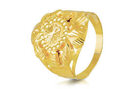 men gold ring maharaja plain mens gold ring pmga 0674 men rings jewellery