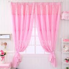Fabric Shabby Chic by Pink Color Net Sheer Lace Fabric Shabby Chic Kids Curtain
