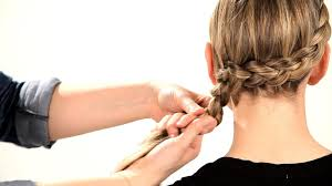 hair braid across back of head how to do a side dutch braid braid tutorials youtube