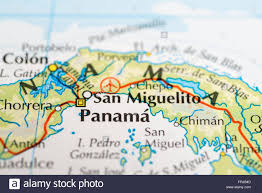 Central America Map by Close Up Of A Map Of Panama Central America Stock Photo Royalty