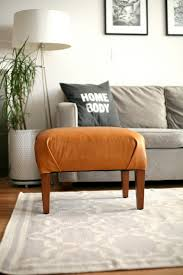 Leather Home Decor Diy Leather Ottoman Makeover By Create Enjoy Project Home