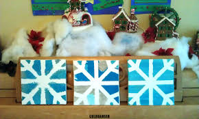 pretty snowflake canvas art project for kids woo jr kids