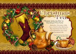 christmas tea party christmas tea party invitation tea party party