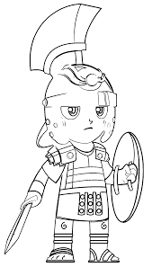 click the cartoon r ier spear coloring pages page of a roman