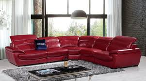 modern red leather sofa and home modern black and red leather