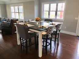 dining room high tables square farmhouse dining table james james furniture springdale