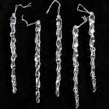 6 clear acrylic dangling icicle ornaments 30 total