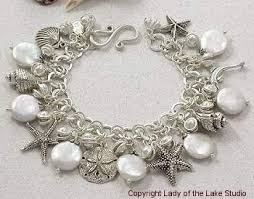 pearl bracelet with silver charm images Unique ocean themed designer charm bracelets giant pearl and jpg