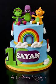 Barney Party Decorations A Blog About Customized Cakes In Singapore Barney Pinterest