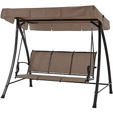 Replacement Fabric For Patio Swing Garden Treasures Brown Steel 2 Person Replacement Porch Swing And