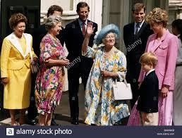queen mother with queen elizabeth princess margaret the duke of