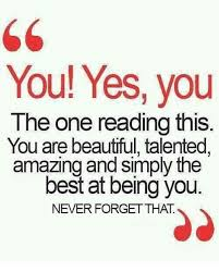 You Are Beautiful Meme - you yes you the one reading this you are beautiful talented