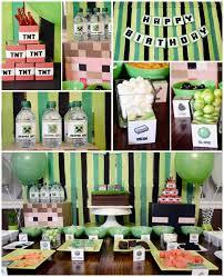 Minecraft Party Centerpieces by Kara U0027s Party Ideas Minecraft Themed Birthday Party Decor Ideas