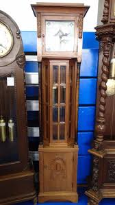 German Grandfather Clocks German Art Deco 24 Sectional Beveled Glass Grandfather Clock