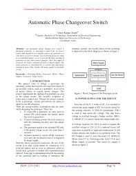 automatic phase changeover switch pdf download available