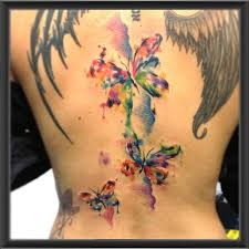 large winged butterfly tattoos on back tattooshunt com