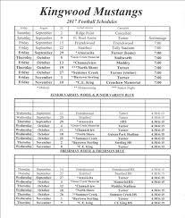 mustang football schedule football welcome to kingwood mustangs football