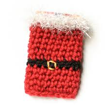santa crochet gift card holder pattern petals to picots