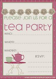 free printable tea party invitation templates christmas day observance