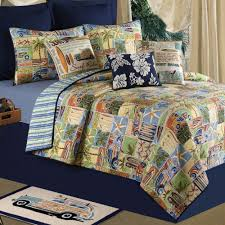 Coastal Themed Bedding Bedroom Coloful Beach Theme Bedding Sets With Shell Paint On Top