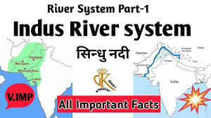 Himalayan Mts Map Indus River System In Hindi Geography Sindhu Nadi Ssc