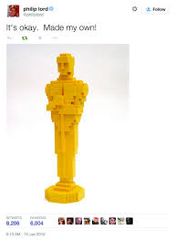 Lego Movie Memes - lego movie director phil lord crafts best response to oscar snub