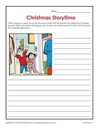 christmas storytime worksheet for elementary grades