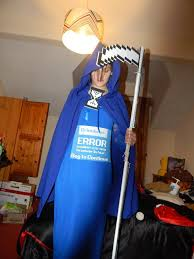 Janitor Halloween Costume Dressed Blue Screen Death Halloween Imgur