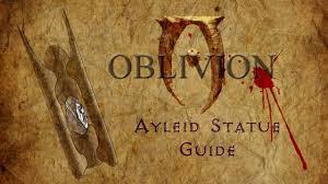 Oblivion Map Oblivion Ayleid Statue Guide Youtube