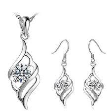 popular necklaces earrings suit 925 silver ornaments coke