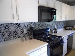 glass mosaic tile black and white kitchen backsplash marissa kay