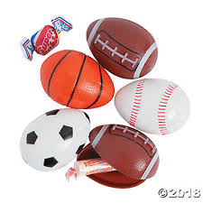 sports easter eggs candy filled sport plastic easter eggs 12 pc