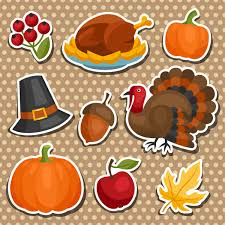 thanksgiving stickers with thanks happy thanksgiving