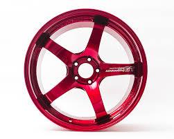 red nissan custom gt premium wheel set 20x10 20x12 phoenix red nissan gt r
