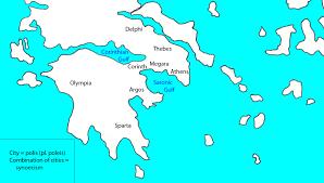 Delphi Greece Map by Online Greek Civilization Course By Carl Seaquist