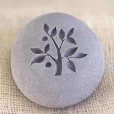 engraved stones tree of engraved pebble stones home decor paperweight by