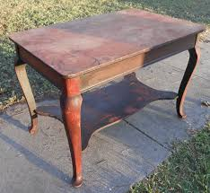queen anne entry table antique mahogany library table victorian writing desk queen anne