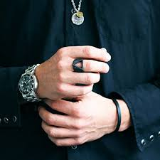 cool finger rings images Evbea personalised ring black triangle men ring special gift for jpg