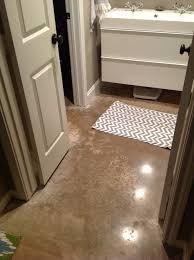 Diy Bathroom Flooring Ideas Apartments Concrete Bathroom Floor Ideas On Small Flooring Trend