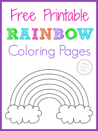 free printable rainbow coloring pages color sheets free