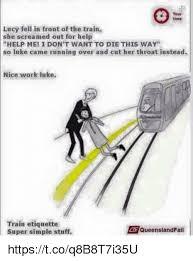Queensland Rail Meme - 25 best memes about train etiquette train etiquette memes