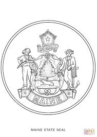 maine state seal coloring page free printable coloring pages
